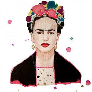 Tote Bag Frida Kahlo Acuarelas