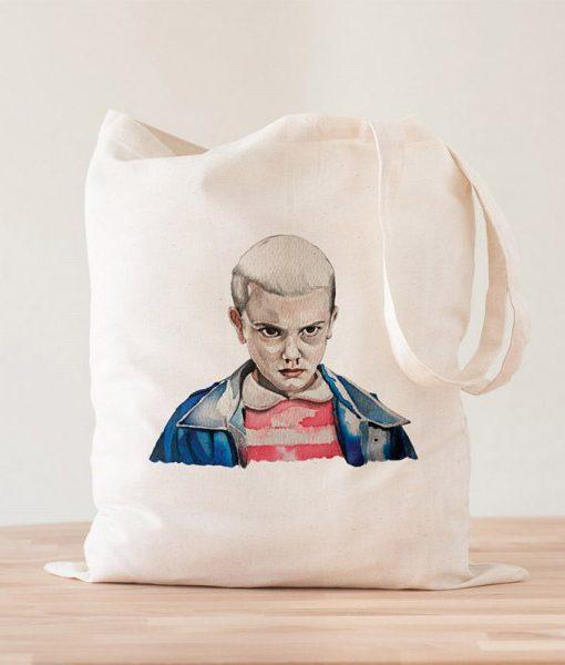 Tote Bag Eleven Stranger Things Acuarelas