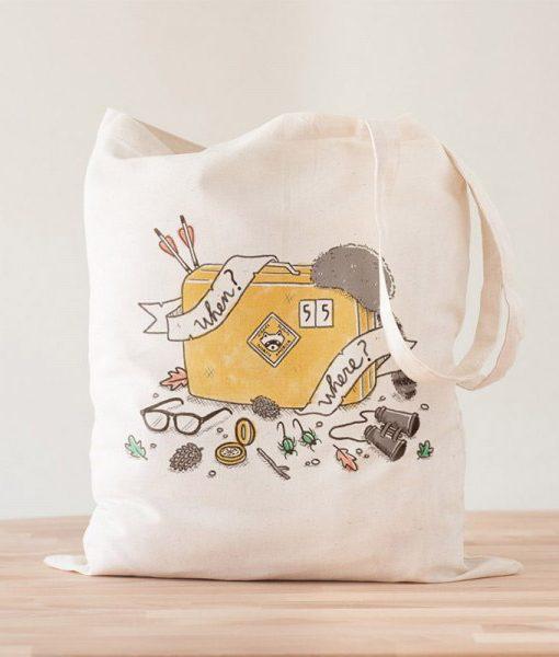 Tote Bag When and Where   Moonrise Kingdom