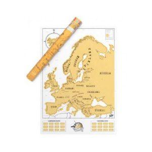 Mapa De Europa para rascar Scratchmap Europe Edition