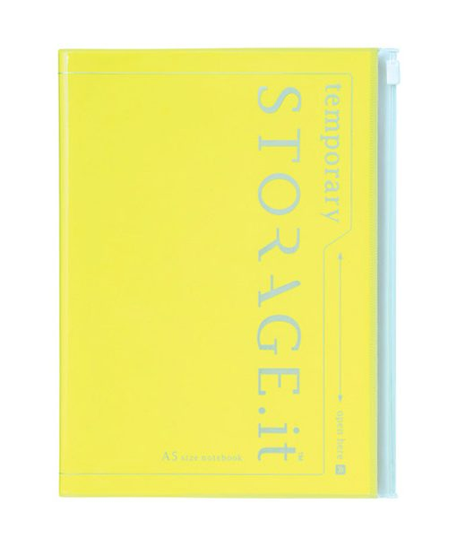 Cuaderno Storage It Amarillo Flúor A5 con funda táctil