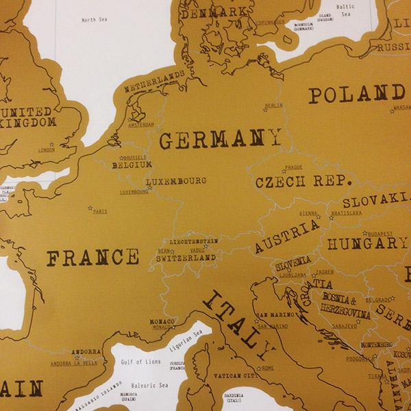 Mapa de Europa de Rascar Scratch Map