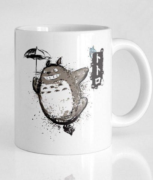 Taza Totoro Volando con mi vecino |