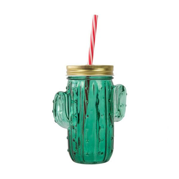 Taza jarra cactus bote de cristal con tapa y pajita for Fisura lamparas