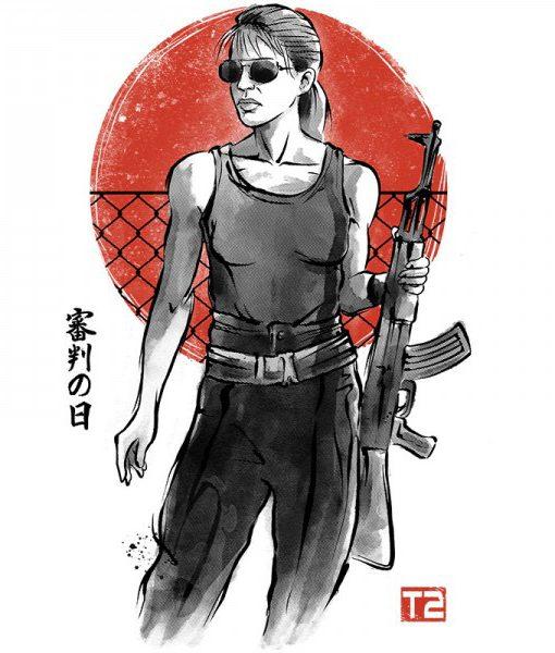 Camiseta Sarah Conor Terminator 2 Mujer