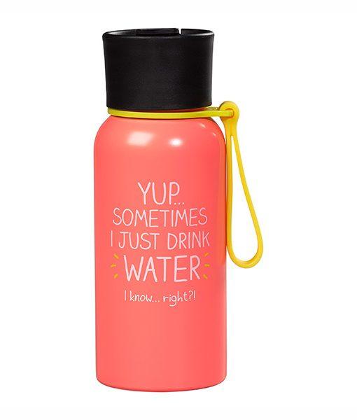 Botella de Agua Rosa Pastel Acero Inoxidable
