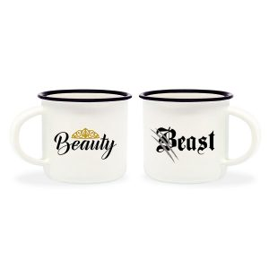 Mini Tazas Espresso Beauty and Beast