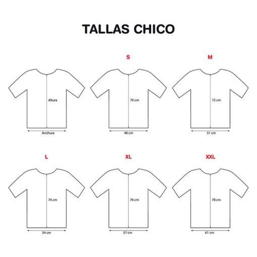 Tallas camiseta chico Gamba Taronja