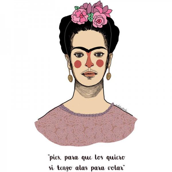Tote Bag Frida Alas Para Volar
