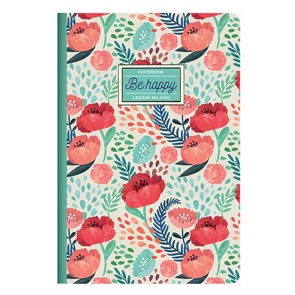 Cuaderno Flores Acuarelas PAPEL FSC