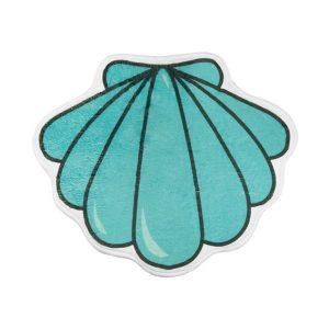 Alfombrilla Concha Mint Suave para el baño