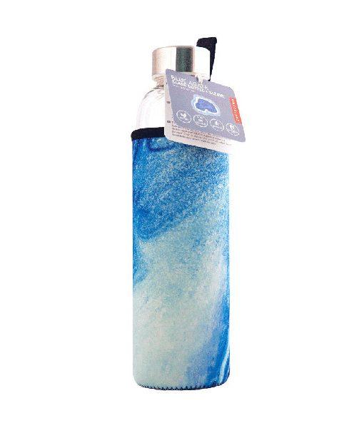 Botella de Cristal Ágata con funda