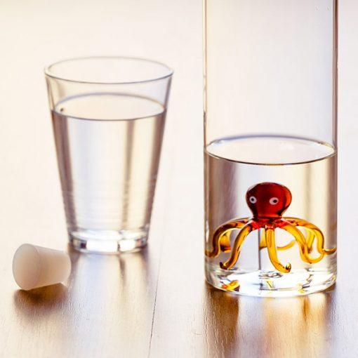 Botella Pulpo de Vidrio de Borosilicato