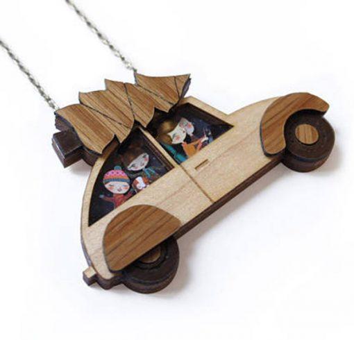 Collar Citröen 2CV madera