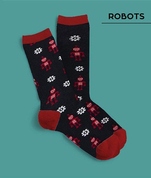 Calcetines Robots Largos