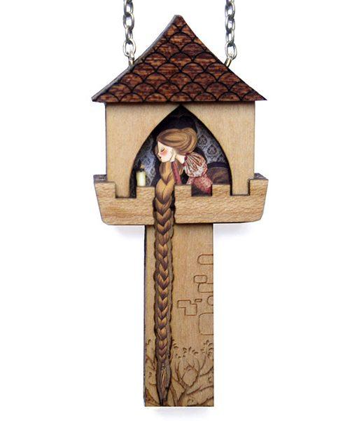 Collar Rapunzel Torre de Madera