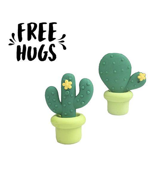 "Gomas de Borrar Cactus ""Free Hugs"""