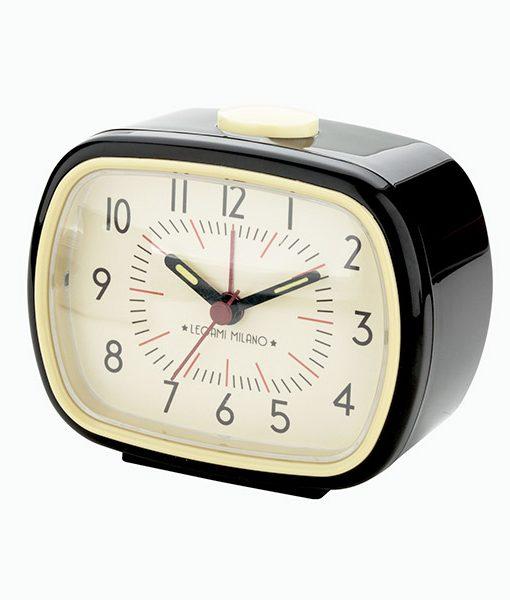Reloj Despertador Retro Negro