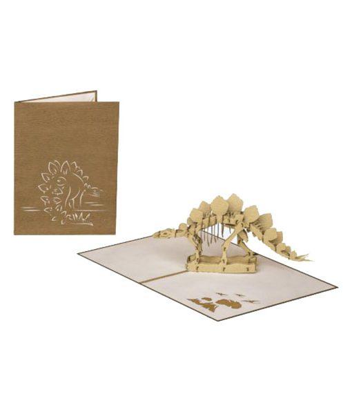 Tarjeta Felicitación Dinosaurio Pop Up Stegosaurus