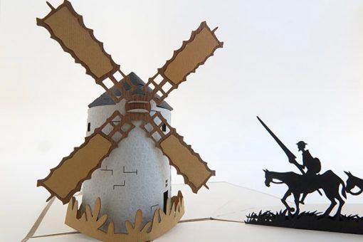 Tarjeta Felicitación Don Quijote Pop up