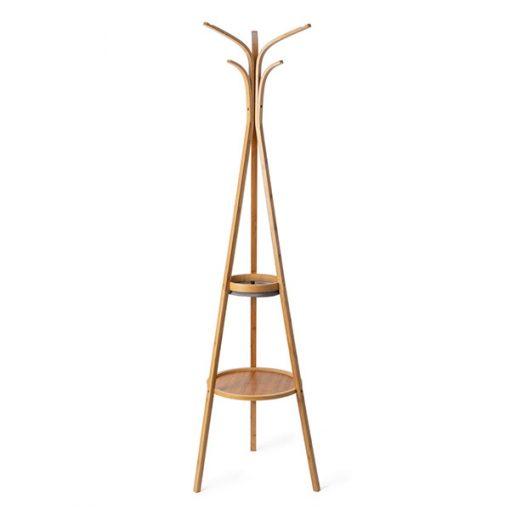 Perchero de Bambú con bandejas