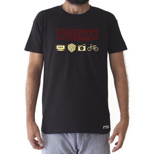 Camiseta Retro Malditos 80