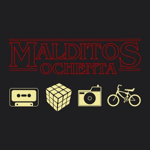 Camiseta Retro Malditos 80