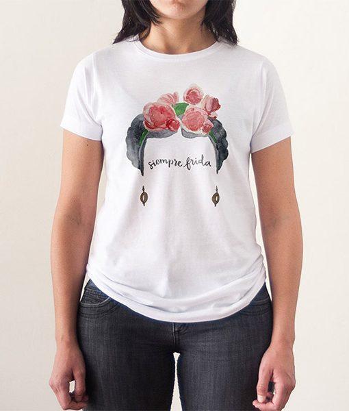 Camiseta Siempre Frida Acuarelas