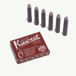 Cartuchos de Tinta rojo vino Kaweco