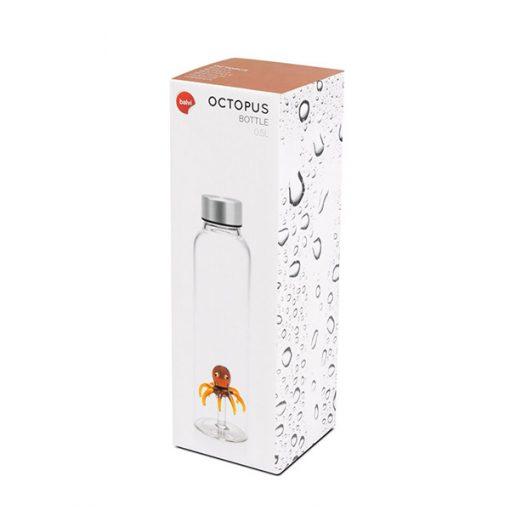 Botella de Cristal Agua pulpo