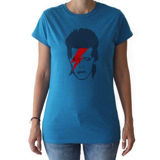 Camiseta Bowie Chica Rayo