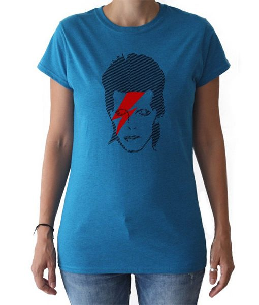 Camiseta Bowie Chica Rayo