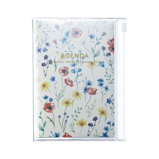 Agenda Mini 2020-2021 A6 Flores Marfil (16 meses)