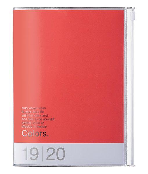 Agenda 2019-2020 A5 Rojo Rosa (16 meses)