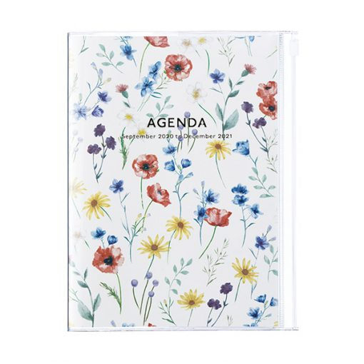 Agenda 2020-2021 B6 Flores Marfil Mediana (15 meses)