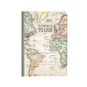 Cuaderno Mapa Hojas Rayadas