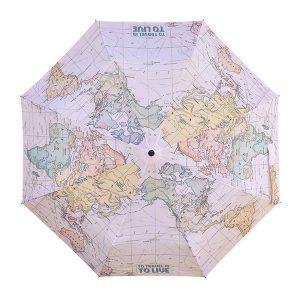 Paraguas Plegable Mapamundi