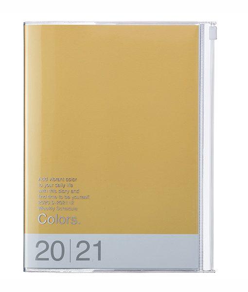 Agenda 2020-2021 Colors Mostaza A5 (16 meses)