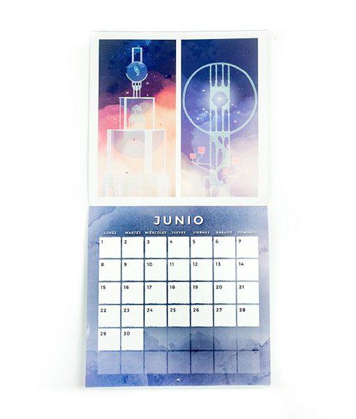 Calendario de Pared Conrad Roset 2020 Gris