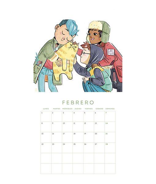 Calendario de Pared Esther Gili 2021 Infantil | Granada