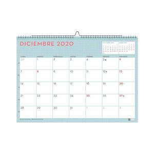 "Calendario de Pared 2020 Lovely ""Mint"""