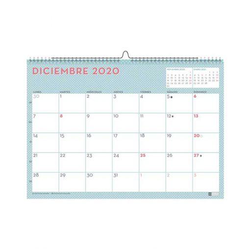 """Calendario de Pared 2020 Lovely """"Mint"""""""