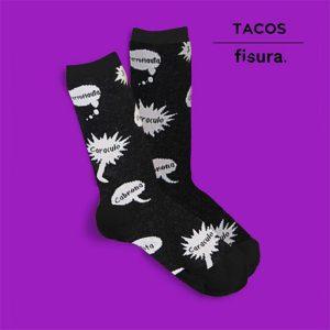 Calcetines Tacos Negros Cortos | Talla 35-41