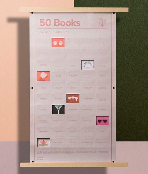 Poster 50 Libros que debes leer una vez en la vida (INGLÉS)