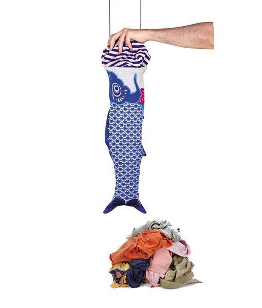 Koinobori bolsa para la ropa sucia