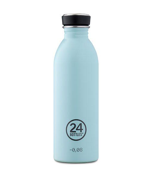 Botella Azul Cielo 24Bottles | Acero Inoxidable | Ligera y Reutilizable