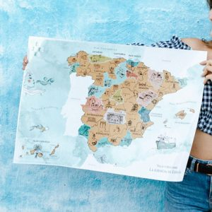 MAPA DE ESPAÑA PARA RASCAR EN ESPAÑOL