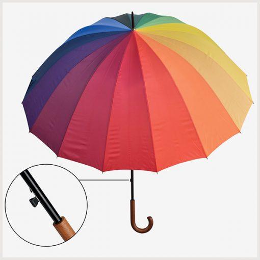 Paraguas Rainbow Grande Apertura Automática