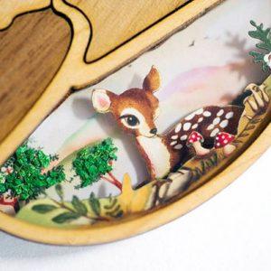 Collar Bambi Hecho a mano en Madera