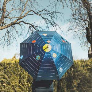 Paraguas Sistema Solar Apertura Automática